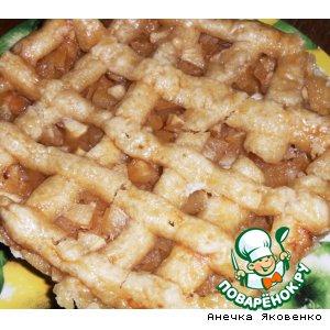 Рецепт: Пирог с яблоками в микроволновке