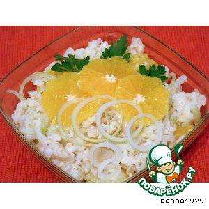 Рецепт: Салат с рыбой и апельсинами