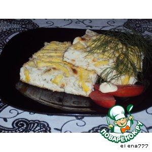 Сырно-творожная запеканка с кабачком и зеленью