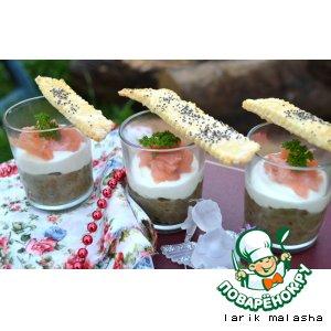 Рецепт: Веррины из чечевицы и лосося с хрустящими сырными палочками
