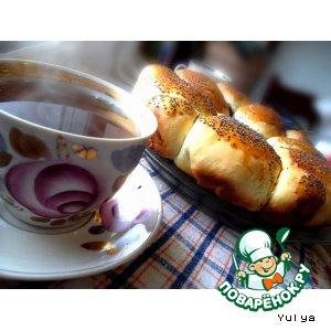 Рецепт Сладкие булочки с начинкой из мака и фасоли