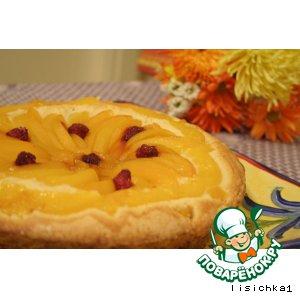 Рецепт Быстрый пирог с персиками