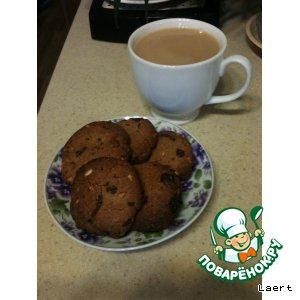 Рецепт Арахисовое печенье с шоколадом