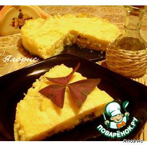 Рецепт: Сырная полента с зеленью