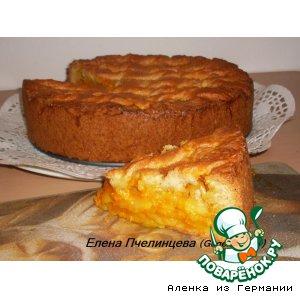 Рецепт: Песочный пирог с тыквенно-яблочной начинкой