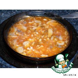 Рецепт: Необычный грибной суп