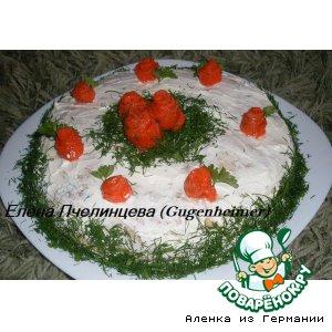 Рецепт: Блинный торт с семгой