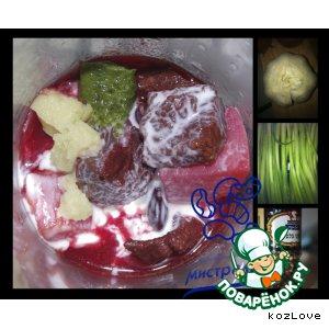 Рецепт: Красный борщ с красной фасолью