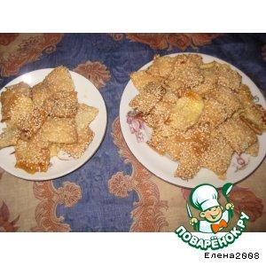 Рецепт: Слайсы-хрустящее печенье