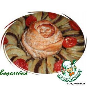 "Рецепт: Запеканка из мяса и овощей ""Роза"""