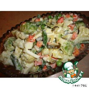 Рецепт: Салат из замороженных овощей