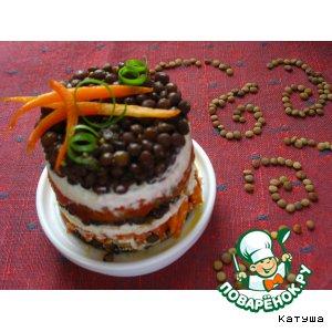 Рецепт: Чечевичный салат Четыре брата