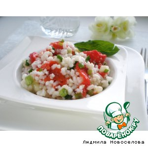 Рецепт: Салат с рисом и перцами