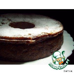 Рецепт: Пирог из хурмы с миндалем