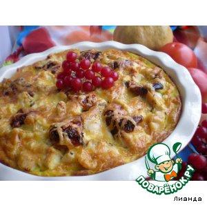 Рецепт Овощная запеканка с куриным филе и вялеными помидорами