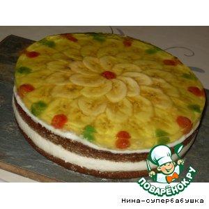 Рецепт: Спонтанный банановый тортик