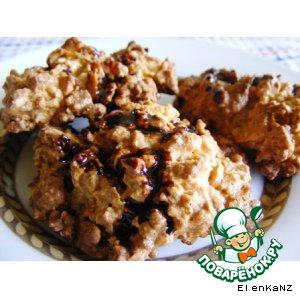 Рецепт: Печенье из кукурузных хлопьев с орехами