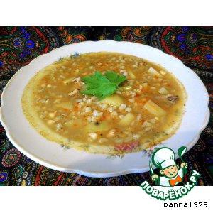 Рецепт: Пряный суп с перловкой