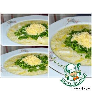 Рецепт: Густой суп из лука-порея по-вальдостански