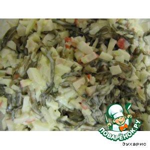 "Рецепт: Салат ""Морская капуста"""