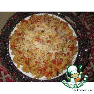 Рецепт: Рис с грибами и сыром по-тайски