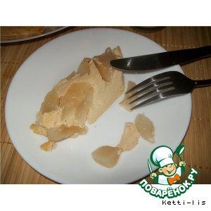 Рецепт: Десерт из запеченной ряженки с яблоками