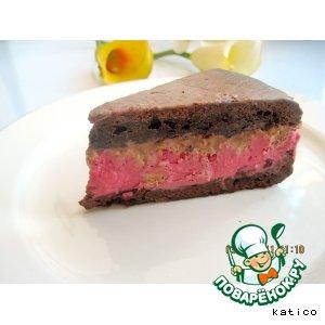 """Рецепт: Шоколадно-клюквенный торт """"Брюнетка"""""""