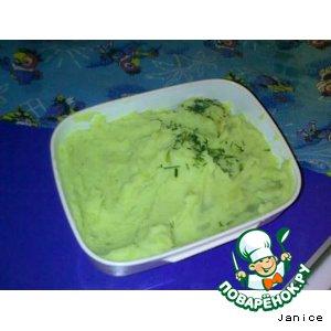 Рецепт: Картошка горохово-луковая