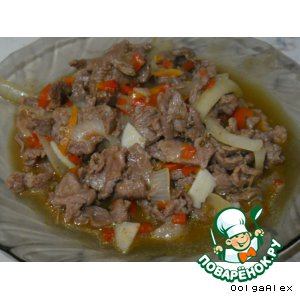 Рецепт: Баранина в кисло-сладком соусе