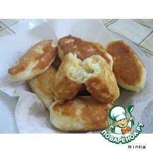 Рецепт: Сладкие пирожки с яблоками