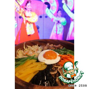 Рецепт: Бибимбап-рис, овощи, мясо и ваша фантазия