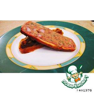 Рецепт: Мясной рулет Богатейший вкусовой букет