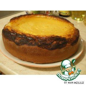 Рецепт: Открытый тыквенно-творожный пирог