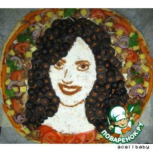 Рецепт: Пицца-портрет
