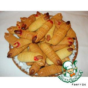 Рецепт: Печенье на Хэллоуин «Пальцы»