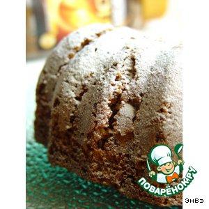 Рецепт: Кофейный кекс с карамелизированной тыквой и орехами