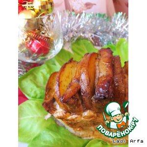 Рецепт: Новогодняя свинина с грушей
