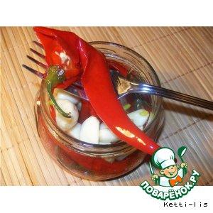 "Рецепт: Острый запеченный перец ""За час до Нового года"""