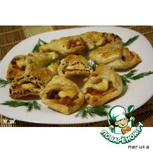 """Рецепт: Мини-пиццы """"Язычки"""""""