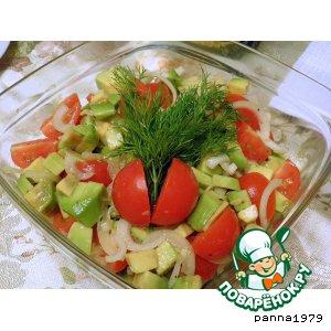 Рецепт: Салат из помидоров и авокадо