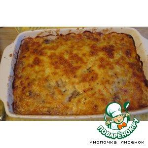 Рецепт: Запеканка из фарша, баклажанов, помидоров и картофеля