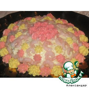 "Рецепт: Салат-""торт"" ""Престиж"""