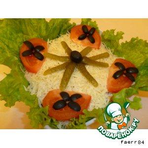 Рецепт: Салат «Блинный»