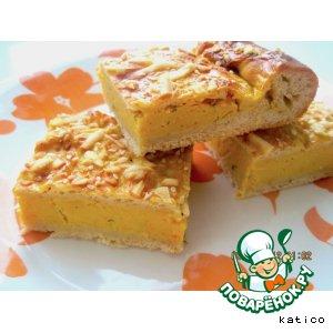 Рецепт: Нежный пирог с гороховой начинкой