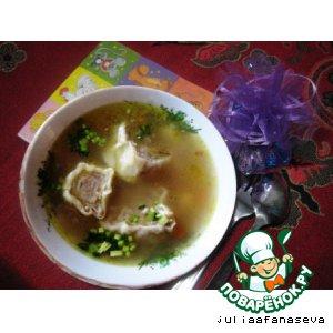 Рецепт: Овощной суп с ленивыми пельменями