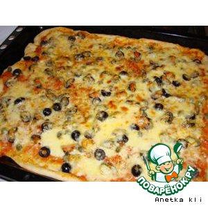 """Рецепт: А-ля пицца """"Объеденье"""""""