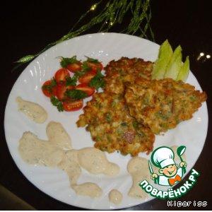 Рецепт: Полезный гарнир или просто овощные оладьи