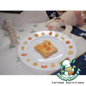 Рецепт: Бутерброд с сыром Чудо-рубашка