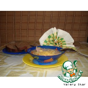 Рецепт: Суп без зажарки с сыром