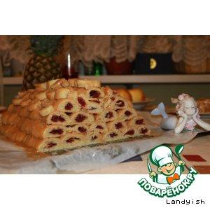 Рецепт: Торт Вишня в сотах